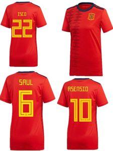Copa Mundial de Fútbol de España España 2019 19 20 A.INIESTA Morata niña saul RAMOS DIEGO COSTA ASENSIO SILVA ISCO Inicio Camiseta de fútbol femenino