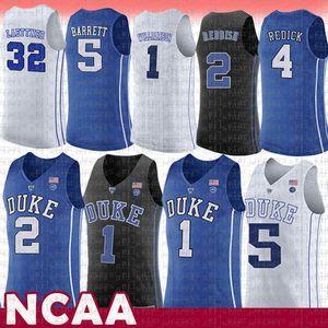 erkekler 1 Zion Williamson Duke Blue Devils NCAA Kolej Basketbol Jersey 2 Kamera Kırmızımsı 5 RJ Barrett 32 Christian Laettner 4 J.J. Redick