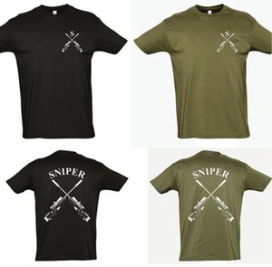 Military Sniper Badge T shirt men Sprcial forces army short sleeve two sides tee US plus size S-3XL