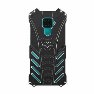 화웨이 노바 5ipro 휴대 전화 케이스 균열에 강한 충격 방지 모든 것을 포함하는 입자 젖빛 배트맨 금속 전화 케이스