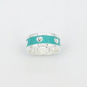 S925 Sterling Silver Ring Womens T-Home Ring European and American Simple Lovely Epoxy Fashion Womens Ring