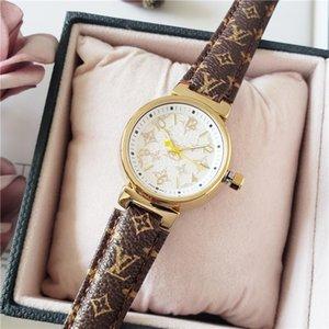lv manera a estrenar las mujeres de lujo reloj de pulsera Diseñador Número Dial reloj de las mujeres del reloj del vestido LetterLV caliente Venta Relogio Masculino