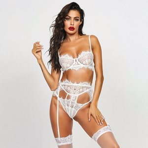 Women classic erotic lingerie sexy lace sculpt body underwear  gauze underwear Europe-America temptation high quality lingerie selling