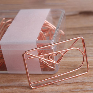 20pcs Office Paper Clip Love Bowknot Plating Special-shaped DIY Modeling Gift Bookmark Easy Use Mini School Accessories Study
