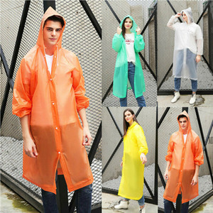 Ücretsiz nakliye Şeffaf Yağmurluk Erkekler Hafif Kapşonlu Uzun Rainwear Yeni Mavi Sarı Yağmur Coat