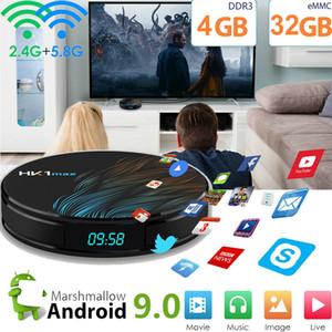 Android 9.0 HK1 MAX Smart TV BOX 4K RK3328 4 + 32GB 64GB rom Quad Core العرض الرقمي 2.4 جرام / 5 جرام Wifi Media Player