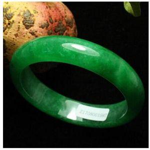 Sertifikalı Doğal Zümrüt Yeşil Jadeid Yeşim Bileklik Bileklik El Yapımı (Sertifika teslimi)