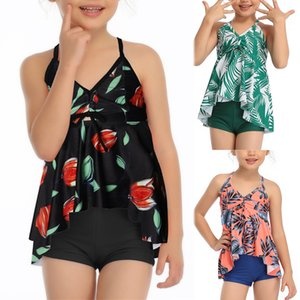Mother And Daughter Print Two Piece Swimsuit Matching Swimsuit Clothing kids swimwear for girls biquini infantil menina 2020