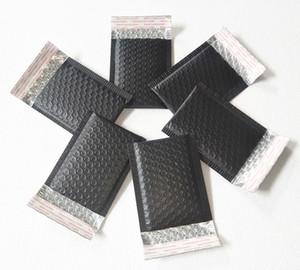 100шт 110 * 130мм Matte Black Bubble Конверты Сумка Mailers проложенная Доставка конверт с пузырем рассылкой алюминиевой фольгой мешков