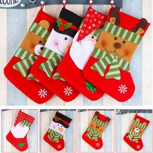 Christmas Xmas Tree висячие носки Санта Снеговик чулок Носок Подарочные конфеты Сумки Для детей Дети Xmas Украшение HH9-2493