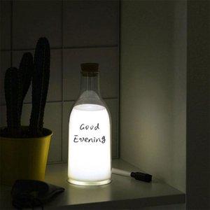 Brelong Milk Bottle Night Light LED rechargeable lampe de chevet enfant fille Chambre Salon Mariage Décoration (Blanc Chaud)