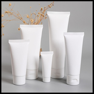 White Plastic Soft Tube Bottles 5ml 10ml 15ml 20ml 30ml 50ml 100ml Empty Cosmetic Cream Cleanser Container