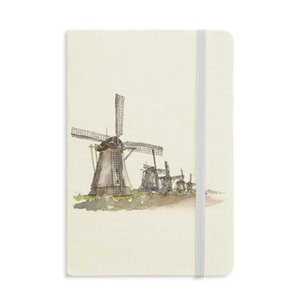 Mulino a vento in Holand Notebook Tessuto Hard Cover Classic Journal Diary A5