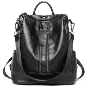 Challen zaini donna pu in pelle nera zaino tracolla daypack per le donne femminile mochila femminile mochila J190528