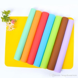 30*40CM Solid Color Silicone Placemat Insulation Portable Thickening Western Food Pad Children Folding Table Pet Animal Mat BH1947 CY