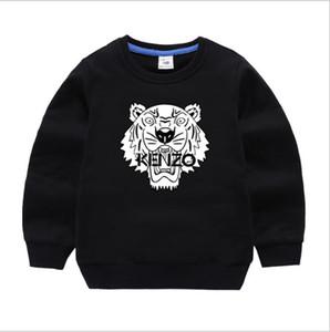 KNZO 키즈 브랜드 까마귀 가을 어린이 긴 소매 아기 걸스 소년 코트 키즈 코튼 탑스 스포츠 캐주얼 티셔츠 스웨터