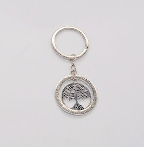 Charm Life Tree Key Chains Trust Love Dream Hope Rings Keychains Women Family Friends BFF Gifts Keyrings Party Jewelry Car Bags Keyfob