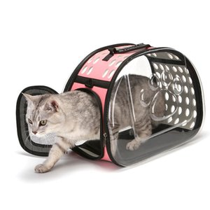 Cat Dog Universal Travel Out Carrier Bag Transparent Folding Cat Pack Pet Backpack Visible Carrying Box Pet Dog Supplies