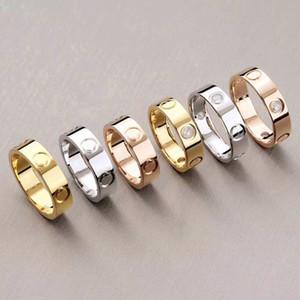 AIYANISHI de 6 mm Anillos amor por las mujeres con diseño de tornillo Los mejores regalos para el amor de oro tornillo anillos de diseño para las mujeres