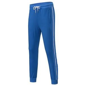 Deporte del Mens chándal de diseño de 6 colores de moda pantalón de marca rayas Panalled Lápiz Pantalones del basculador Envío libre más el tamaño S - 4XL