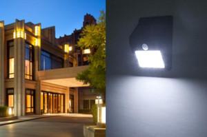 Outdoor Solar Powered LED Wall portico della lampada illumina di notte della lampada solare del sensore di controllo del percorso staccionata
