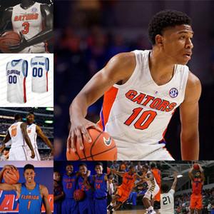 2020 Флорида Аллигаторы Статистика Баскетбол Джерси NCAA Колледж Keyontae Джонсон Ной Локк Tre Манн Скотти Льюис Омар Nembhard Payne Ной