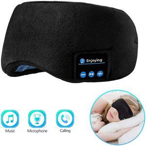 Bluetooth 5.0 auriculares del sueño Eye Mask Wireless Auriculares Música Viajes Auriculares manos libres máscara para dormir Para la mujer del hombre