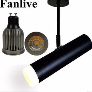 Fanlive 20pcs LED Tracking Lamp 7W 10W 15W COB Binario per soffitto a soffitto Apparecchi per punti luce Sorgente variabile 3000K 4000K 6000K