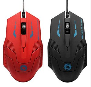 High Quality 2400DPI Adjustable USB Wired Optical Gaming Mouse Professional Game Mice For PC Computer Office Black Red 2 Colors