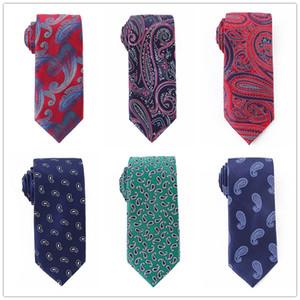 1200 aiguilles 7.5cm hommes Cravate paisely Cravate polyester soie florale hommes formelle Tie Gravatas partie d'affaires de mariage YW75PT