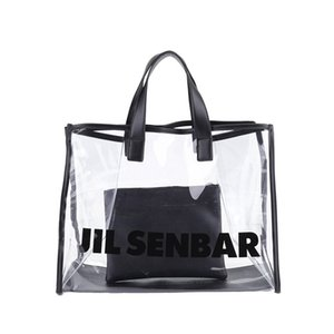 Korean-Style Transparent Beach Bag Jelly Large Capacity Different Size Bags Casual All-match PVC Letters Handbag
