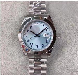 2020 Luxus-Automatik-Uhrwerk Day Date Designer Uhren Herren-Uhr Jubilee Edelstahl Band Ice Blue männliche Master BRW Armbanduhr Dial