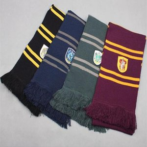 Harry Potter Scarves Slytherin Gryffindor Ravenclaw Hufflepuff Knitted Scarf with Tassels Winter Thicken Wool Warm Cosplay Costumes Scarves
