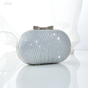 Jhd Wedding Bridal Beaded Women Evening Bag Shoulder Handbags Elegant Rhinestones Clutch Evening Bag Egg Shape Day Clut