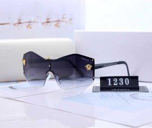 Top Medusa Sunglasses For Womens Driving Ladies Rimless Sunglass Eyewear Women Avant-garde Lentes Windproof Cycling Sun Glasses 66426