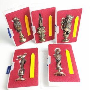Cosplay 5 Modelle Harry Potter Hogwarts Stamp Wachs-Siegel-Stempel Slytherin Hufflepuff Gryffindor Brief Siegel Prop Weihnachten