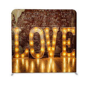 7.5 8 10ft Valentine's Day Love Print Pillow Backdrop with Frame stand for photography and Party, wedding , Event background
