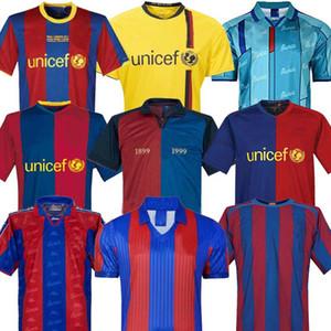 Maglia Retro calcio Barcellona 96 97 07 08 09 10 11 XAVI Ronaldinho RONALDO RIVALDO GUARDIOLA Iniesta finali MESSI maillot de foot 1899 1999