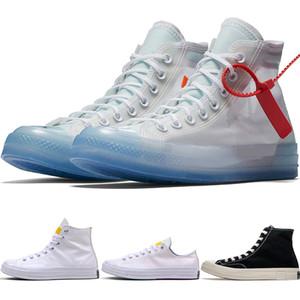 Yüksek top 1970 Yakınsama Erkekler Sunlight UV Renksizleşmeye Chinatown Ortak Sporlar Tuval Ayakkabı için Ayakkabı Koşu zebra çizgileri Spor ayakkabılar 162204C-102