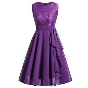 JAYCOSIN Summer Dress Women Sleeveless Formal Ladies Dress O-neck Knee-Length Evening Party Vestidos30