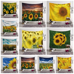 13 styles Sunflower 3D Impression Couverture Tapisserie Des Ménages art Fit Mur Tapisserie Mode Enfant Adultes Beach Serviette décor à la maison FFA2914