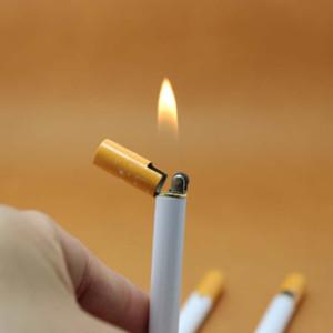 الإبداعية البسيطة ولاعة السجائر إعادة الملء البوتان معدن الغاز على شكل ولاعة المحمولة طحن عجلة أخف في الهواء الطلق أدوات لا غاز