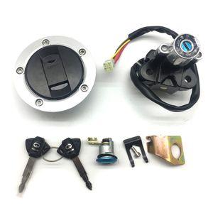 Nuevo conmutador de encendido Cap de Gas Combustible Asiento Key Lock fijados Ajuste Suzuki SV650 / SV650A / SV650S 2003-2009 SV1000 / SV1000S 2003-2005 GSXR1000 2003-2004