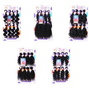 8pcs Kinky curly hair extension mongolian curly synthetic braiding hair crochet braids jerry curl hair for marley wholesale factory