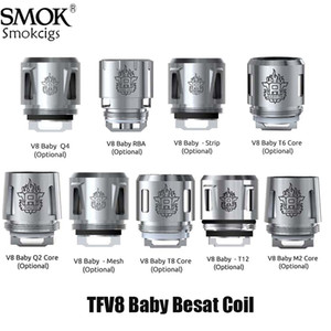 SMOK TFV8 Детские Coil 0.4ohm 0.6ohm V8 младенца Q2 M2 X4 T6 T8 T12 Ядро для TFV8 МАЛЫШЕЙ Beast танк Authentic
