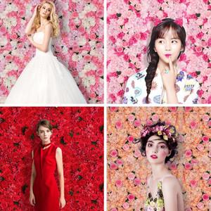 40x60cm 10 cores de seda da parede da flor de Rosa Decoração do casamento Fundo da parede da flor artificial Romantic Wedding Decor XD22293