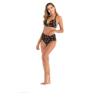 2020 nuevo de las mujeres del vendaje del bikiní de las empuja hacia arriba el traje de baño del traje de baño de tres 1Pcs Con Er rellenado atractivo del traje de baño de verano Biquinis # 236