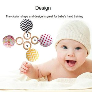 Portable Newborn Baby Teething Ring Chewing Teether Handheld Safety Wooden Natural Teeth Exercise Toy Gift 2 1