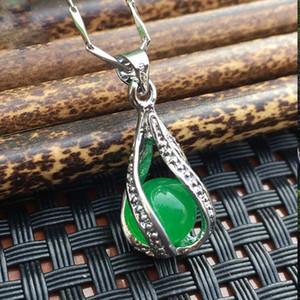 Elegante pingente de jaspe simples clavícula esmeralda-grade para F7 entrega gratuita