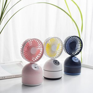 200ml Portable Water Spray Mist Fan USB Rechargeable Handheld Mini Fan Cooling Air Conditioner Humidifier for Outdoor CD